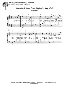 How Can I Keep From Singing? arr. by Angi Bemiss