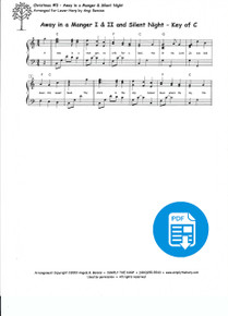 Christmas #3: Away in a Manger and Silent Night arr. by Angi Bemiss - PDF Download