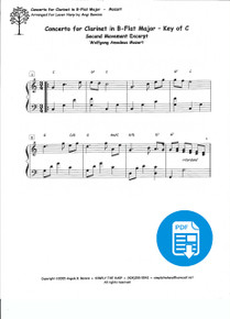 Concerto for Clarinet in Bb arr. by Angi Bemiss - PDF Download