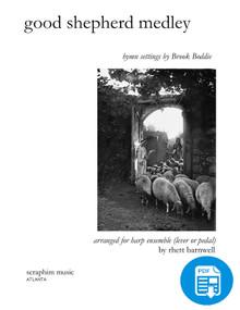 Good Shepherd Medley for Harp Ensemble arr. by Rhett Barnwell - PDF Download