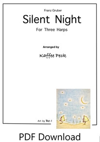 Silent Night for three harps arr. by Kaffee Peck - PDF Download