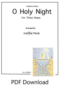 O Holy Night for three harps arr. by Kaffee Peck - PDF Download