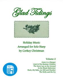 Glad Tidings Vol 2 for Pedal Harp by Corkey Christman  - PDF Download