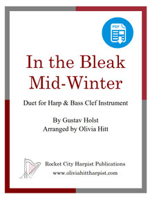 In the Bleak Midwinter for harp and bass clef instrument arr. by Olivia Hitt  - PDF Download