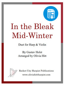 In the Bleak Midwinter for harp and treble clef instrument arr. by Olivia Hitt  - PDF Download