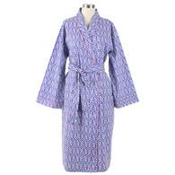Women's shawl collar robe in all cotton