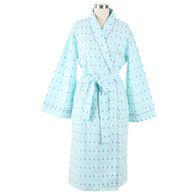 Ladies shawl collar robe in all cotton