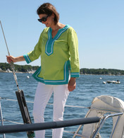 Seabury Lime/Teal Tunic