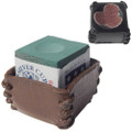 Deluxe Leather Chalk Holder WScuffer, Brown