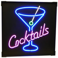 """Cocktails"" Neon Sign"
