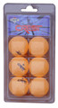 Crest 6/pk Orange One Star Table Tennis Balls