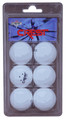 Crest 6/pk White Three Star Table Tennis Balls