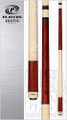Players Exotic designs let simple beauty of nature shine through. This Exotic cue features a richly-figured Rengas forearm and butt and beautifully-detailed natural Birds-eye Maple wrapless handle, joint & butt cap, set off by classic and understated single silver rings.   Wood: Rengas, Birds-eye Maple  Joint: Birds-eye Maple  Tip: Le Pro tip   Weight: Standardized weighting system 18oz-21oz available   Butt cap: Birds-eye Maple