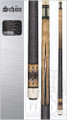 "Schon - Small-Batch American Made Custom Cues  Schon Features      Standard 58"" cues     Available in 19-21 oz.     Cue butts are built on a hybrid core of laminated woods     Elephant Ivory, Ebony and other exotic wood inlays     Phenolic-lined stainless steel joint collars     Stainless steel pins     Butt plates are made out of nearly-indestructible Delrin     Piloted joints mate with phenolic cushioned brass shaft inserts     Shafts and cue butts are perfectly matched during manufacturing, giving that distinctive Schon hit"