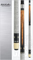 "Cue Details  Wood: Maple, Ebony Joint: Stainless steel 5/16x14 Joint Rings: Single silver Weight: 18-21oz, half ounces available Butt Cap: Cream Shaft: 29"" Canadian Maple"