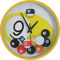 Gameroom Accessories -  9 Ball Falling Balls Clock
