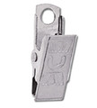 5705-3500 - Metal Clip Embossed  U Bulldog 100 Per Pack