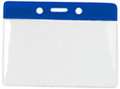 1820-1002 - Badge Holder Horizontal Blue Bar 100 Per Pack