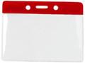 1820-1006 - Badge Holder Horizontal Red Bar 100 Per Pack
