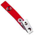 "2105-2006 - Strap Clip Vinyl 2 3/4"" Length Red 100 Per Pack"