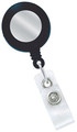 2120-3101 - Retractable Badge Reel Black With Silver Face 100 Per Pack