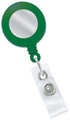 2120-3104 - Retractable Badge Reel Green With Silver Face 100 Per Pack