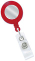 2120-3106 - Retractable Badge Reel Red With Silver Face 100 Per Pack