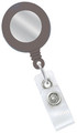 2120-3120 - Retractable Badge Reel Grey With Silver Face 100 Per Pack
