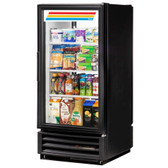 True GDM-10PT-LD Black Pass-Through Glass Door Merchandiser - 10 Cu. Ft.