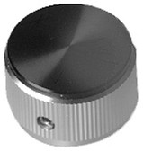 "ALUMINUM & BLACK FACE INDICATOR KNOB 1"" DIA  1/4"" BORE- LINCOLN"