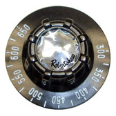 BLACK W/WHITE PRINT DIAL FOR FD T'STAT - LINCOLN OVEN