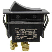 BLACK ROCKER SWITCH, ON/OFF, 20A-277V - LINCOLN OVEN