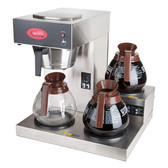 Coffee Brewer, Pour Over,3 Warmer , Avantco,120v