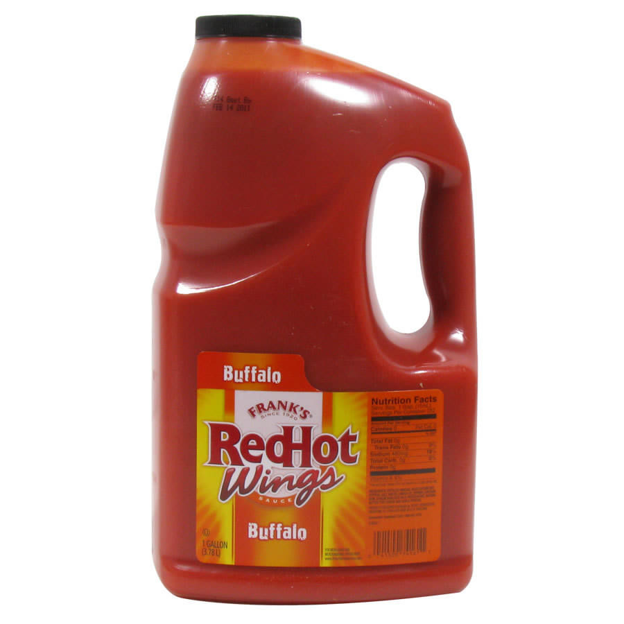 1 Gallon Frank S Red Hot Wings Buffalo Wing Sauce