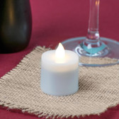 Warm White Rechargeable Flameless Replacement Tea Light - 4/Pack