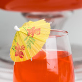 "4"" Drink Umbrella / Parasol Pick with Assorted Colors - 144 / Box"