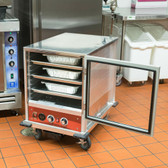 Undercounter Half Size Non-Insulated Heated Holding / Proofing Cabinet with Clear Door - 120V