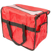 Red Deluxe Insulated Nylon Sandwich Delivery Bag