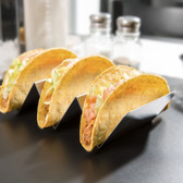 American Metalcraft TSH3 Stainless Steel Taco Holder with 2 or 3 Compartments