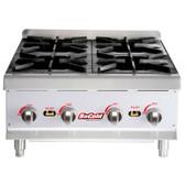 HP424 4 Burner Gas Countertop Hot Plate - 88,000 BTU