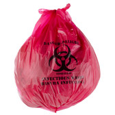 Red Isolation Infectious Waste Bag / Biohazard Bag 200/CASE