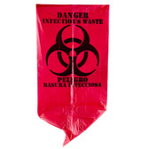 Red Isolation Infectious Waste Bag/Biohazard Bag High Density
