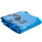 40-45 Gallon Blue Tint Linear Low Density Recycling Bag 100/Case