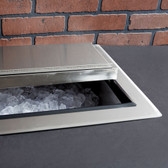 "18"" x 24"" Stainless Steel Drop-In Ice Bin"
