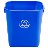 13 Qt. Blue Recycling Wastebasket