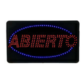 Large Abierto Open LED Sign