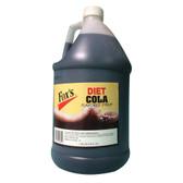 Fox's 1 Gallon Diet Cola Soda Syrup - 4/Case