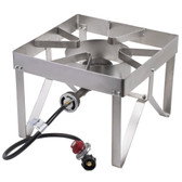 Backyard Pro Stainless Steel Single Burner Outdoor Patio Stove / Range - 55,000 BTU