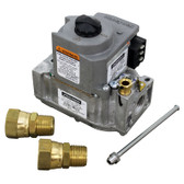 """NAT GAS SAFETY VALVE  24V  1/2"""" FPT  WITH FITTINGS"""