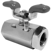 "BALL VALVE W/HANDLE 3/8"" FPT"